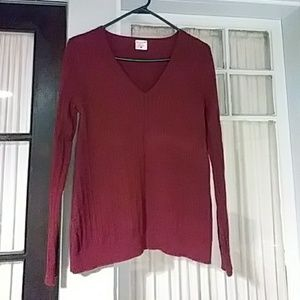 Red maternity pullover